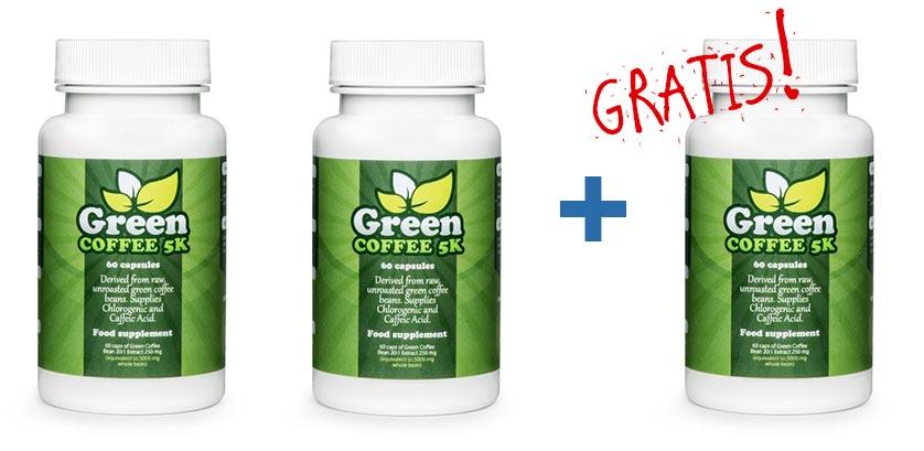 zielona kawa w tabletkach: opakowanie gratis